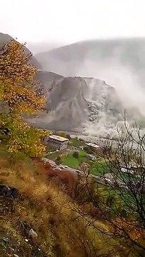 Footage of Landsliding at Hunza