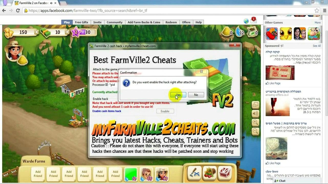 Farmville 2 Cheat Engine 6 4 | Farmbucks | Coins | Expand | Water