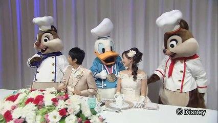 ディズニーアンバサダーホテルのウェディング「ディズニーの仲間たちがお祝いにかけつけるプログラム」