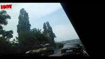 ДОНЕЦК Танки ополченцев едут в Донецк 18.08.14 Новости Сегодня,Славянск,Донецк,Луганск,Рос