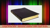 PDF Download  Thompson Chain Reference Bible Style 514black  Large Print KJV  Genuine Leather with Read Online