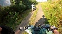 Pit Bike 124cc + Suzuki LT Z400 | ride for fun | Mini dirt cross atv quad GoPro hero 3 Vid