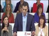 """Pedro Sánchez pide a Podemos la """"renuncia al referéndum"""" para negociar"""
