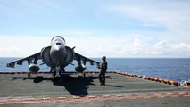 Keep Away: US Harrier Taking Off Like a Plane & Landing Like a Helicopter