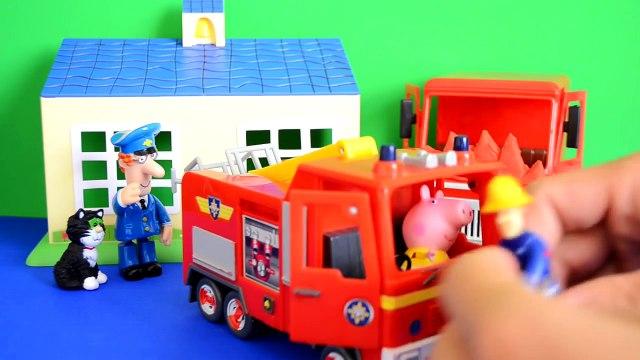 fireman sam Fireman Sam Episode Peppa Pig Play-doh Postman pat Van Fire Fire Engine Story WOW