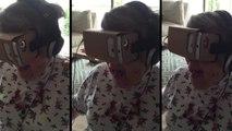 Sanal Gerçeklik Gözlüğünde Roller Coaster Simülasyonu İzleyen Teyzenin Eğlenceli Anları