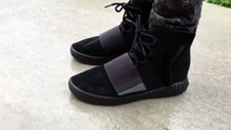 free shipping 3501b f92a0 Adidas Yeezy 750 Boost Black - On Feet - video dailymotion