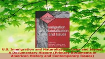 Read  US Immigration and Naturalization Laws and Issues A Documentary History Primary EBooks Online