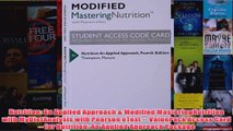 Nutrition An Applied Approach  Modified MasteringNutrition with MyDietAnalysis with