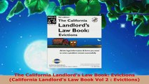 Read  The California Landlords Law Book Evictions California Landlords Law Book Vol 2  Ebook Free