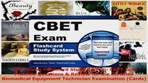 PDF Download  CBET Exam Flashcard Study System CBET Test Practice Questions  Review for the Certified Read Online
