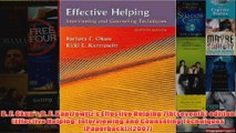 B F OkunsR E Kantrowitzs Effective Helping 7thseventh edition Effective Helping
