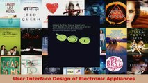 PDF Download  User Interface Design of Electronic Appliances Read Full Ebook