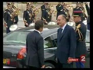Passation de pouvoir Chirac Sarkozy (10/15)