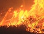 L'incendie qui ravage la côte californienne à travers les télés américaines