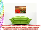 RED POPPY FIELD WALL ART CANVAS PRINTS FRAMED PICTURES HOME DECORATION MODERN FLORAL ART POSTER
