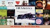 PDF Download  HR Metrics The World Class Way PDF Full Ebook