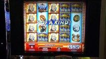 ZEUS II Slot Machine with BONUS, SUPER RESPINS and a BIG WIN Las Vegas Casino
