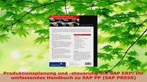 Lesen  Produktionsplanung und steuerung mit SAP ERP Ihr umfassendes Handbuch zu SAP PP SAP Ebook Frei