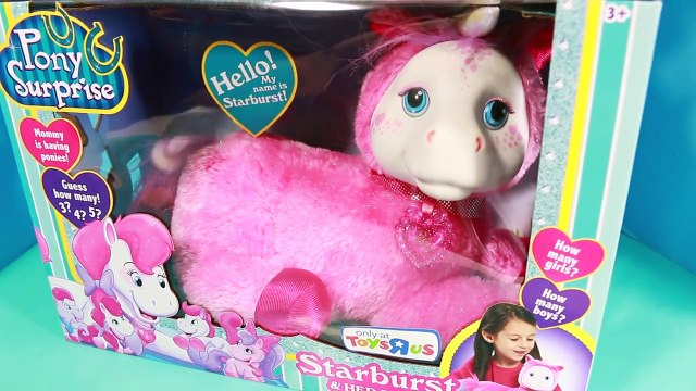 pony babies New PONY SURPRISE Unicorn Surprise Toys Pink Toys R Us Pony Baby Babies Fun Cute Video