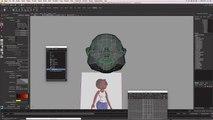 Tutoriel  Modélisation et Animation d'un Personnage Féminin sous Maya - Partie 04 - Modélisation de la  tête - suite