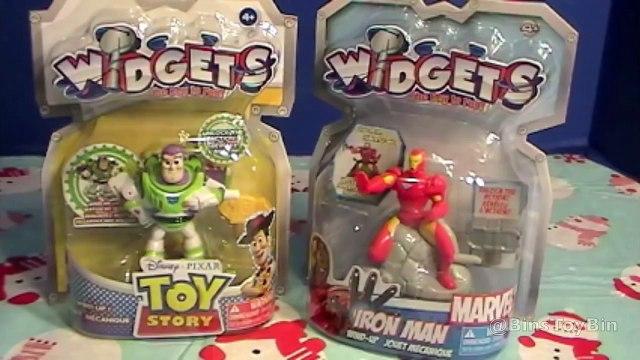 Iron Man & Buzz Lightyear Widgets Wind-Up Toys Review! 2012 Stocking Stuffers by Bin's Toy Bin