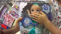 Frozen Aventura Congelante Boneca Disney Elsa Patins Olaf Pai Filha Brincando Brinquedos Toys Kids