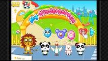 BABY PANDA GAME CUTE BABY BUNNY SWIM POOL BALLS WATER BALLS FEED SLEEP PLAY SLIDES KINDER SCHOOL