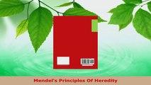 PDF Download  Mendels Principles Of Heredity Download Full Ebook