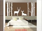Brinch White Tree Wall DecalDeer Winter Tree DecalsBrich Tree DecalWhite Tree Sticker For Bedroom