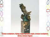 Bronze sculpture flying eagle golden eagle bronze sculpture 32cm bronze figure