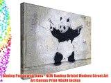 Banksy Panda with Guns - NEW Banksy Bristol Modern Street Art Art Canvas Print 40x30 inches