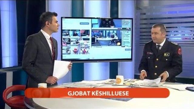 Report TV - Drejtori i Përgjithshëm i Policisë Rrugore Mitat Tola  flet për gjobat progresive