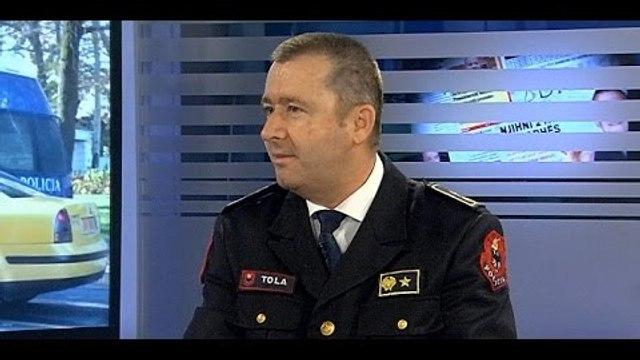 Report TV - Drejtori i Përgjithshëm i Policisë Rrugore Mitat Tola  flet për jjobat progresive