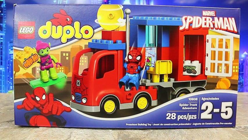 Duplo Lego Spiderman NEW Spider Truck Adventure Legos Review Batman and Superman Stop Wonder Woman