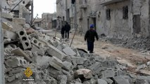 Trapped Syrian civilians and fighters relocated