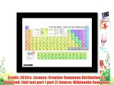 Framed poster art print: PERIODIC TABLE ELEMENTS CHEMISTRY SCIENCE (A3 - 29.7x42cm / 11.7x16.5in