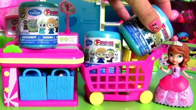 Sofia Shopping for SHOPKINS - Princesinha Sofia foi Comprar Shopkins Fashems Toys Disney Frozen