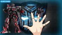 DADDY FINGER SONG TRANSFORMERS Optimus Prime, Bumblebee,Jazz,Megatron,Autobots, Decepticons