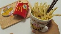 McDonalds Potato + Curry Cup Noodles = McDonalds Noodles !?