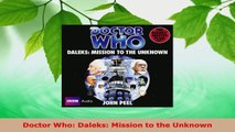 Read  Doctor Who Daleks Mission to the Unknown PDF Free