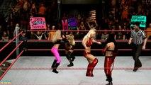 WWE Maryse Vs. Kelly Vs. McCool Vs. Melina show
