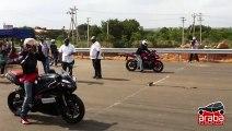 Yamaha R1 vs Honda CBR 600RR - Drag Yarışı - Araba Tutkum