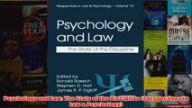 Psychology and Law The State of the Discipline Perspectives in Law  Psychology