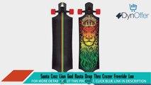 Santa Cruz Lion God Rasta Drop Thru Cruzer Freeride Longboard Deck Complete 40andquot Longboard Skateboards Sports and Outdoors