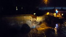 Bridge collapses due to flooding in North Yorkshire