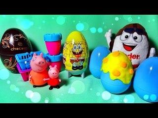 ✔ Шоколадные яйца - Киндер Сюрприз. Новые герои - Свинка Пеппа. Видео для детей / Peppa Pig Toy ✔