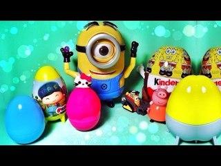 ✔ Шоколадные Яйца - Киндер Сюрприз. Веселые Миньоны. Видео для детей / Minions toys. Surprise Eggs ✔