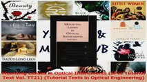 Read  Mounting Lenses in Optical Instruments SPIE Tutorial Text Vol TT21 Tutorial Texts in Ebook Free