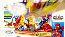 Spiderman Crane Capture Race Track Marvel Super Hero Motorcycle Spider-Man vs Electro DCTC